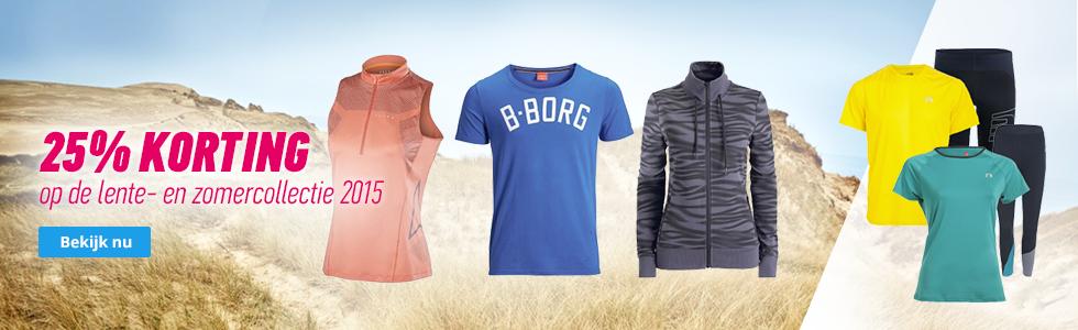 25% korting op de lente- en zomercollectie hardloopkleding