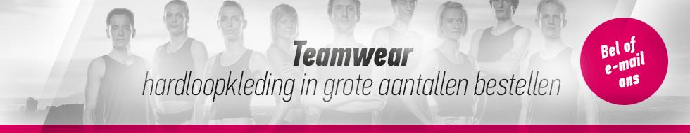 teamwear hardloopkleding in grote aantallen bestellen